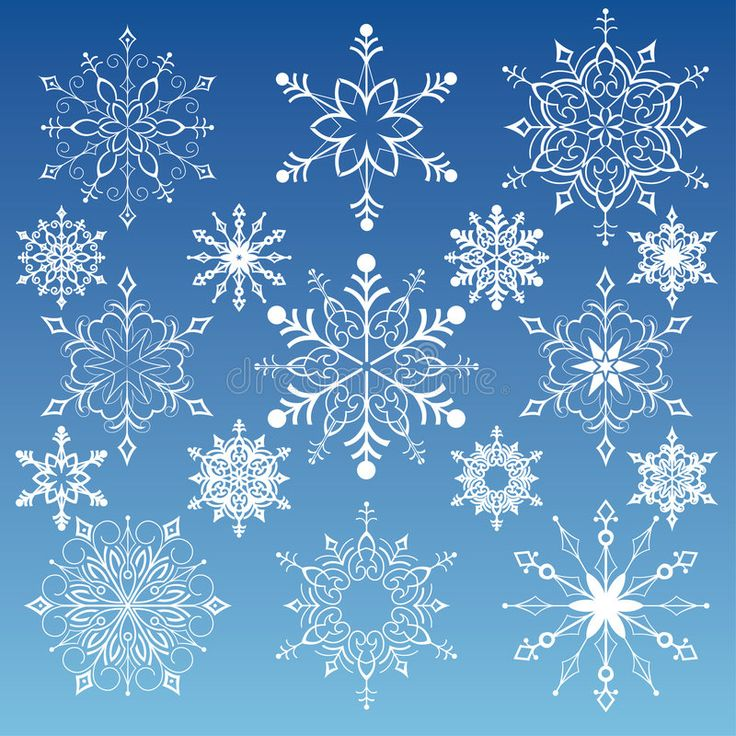 Snowflakes Collection. Editable vector illustration , Ad