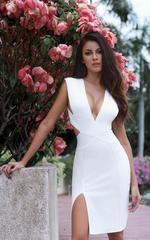 Nova All White Bodycon Dress