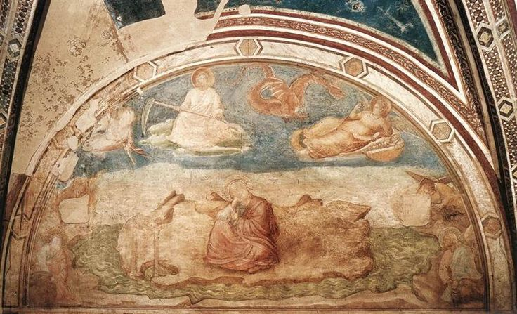 St John on Patmos, 1320 - Giotto