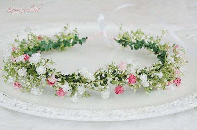 Hair wreath pink veil brew floral wreath hair ornament bride wedding romantic flower children 38 wreath in love
