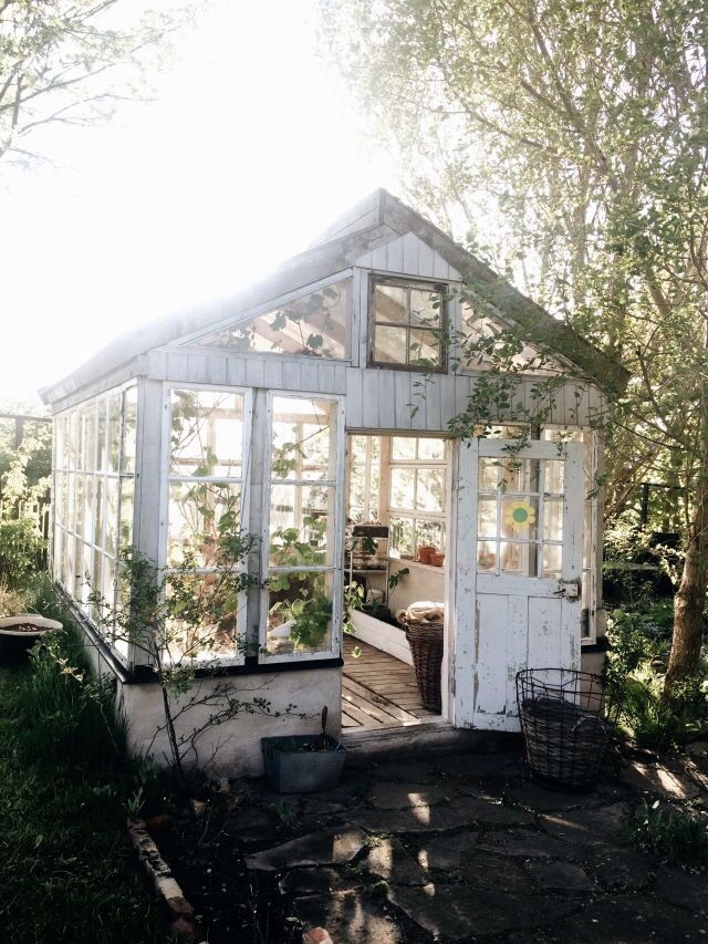summer greenhouse, with lots of windows. could use repurposed too!