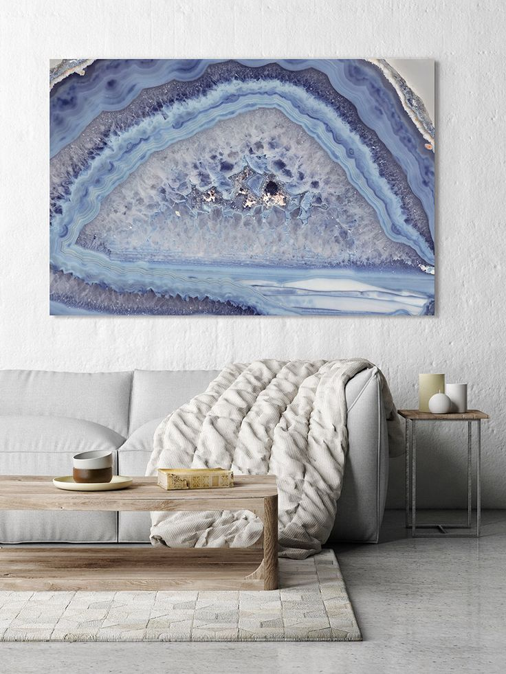 Mineral Photography - (Print #007) Light Blue Agate Slice - choose Fine Art Print or Canvas by ShineHausCollective on Etsy https://www.etsy.com/listing/244355911/mineral-photography-print-007-light-blue