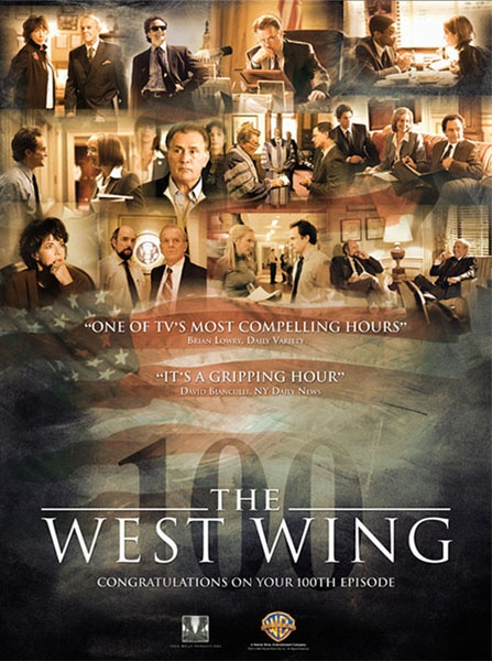 "The West Wing 100th episode Ad was created for Warner Bros. TV to honor this outstanding show. The Illusion Factory also created the website, Emmy Campaign ads, a two hour special ""Inside The West Wing"" to teach Civics in high school for this ground breaking show."