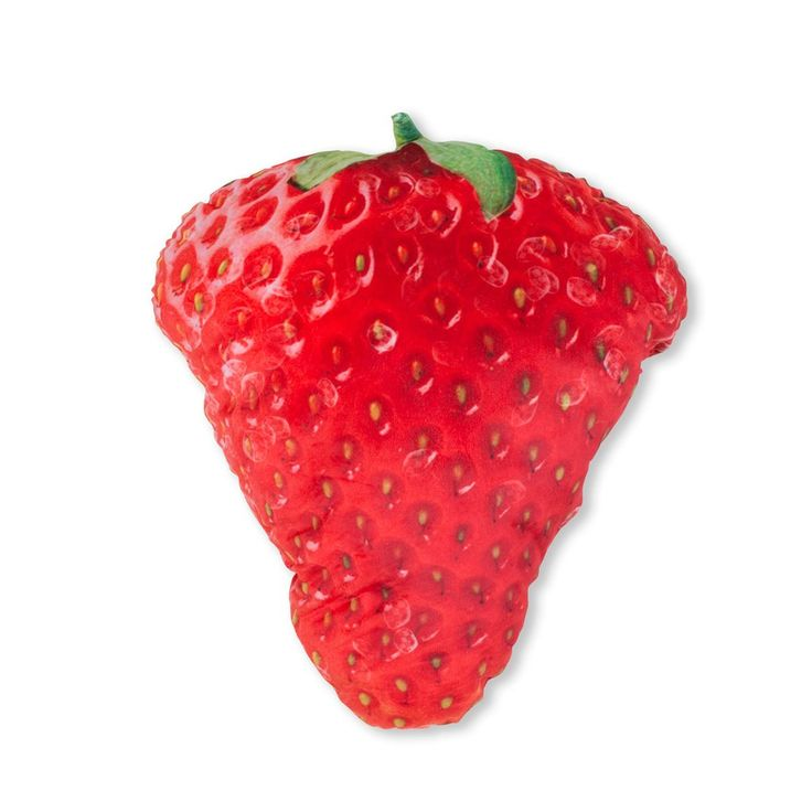 Strawberry 3D Pillow-    Is this a real strawberry? Is it all a fantasy? Do unicorns exist? We guess we'll never know.    Our Strawberry 3D Pillow is made of super soft plush, and stuffed with polyester fibres.    It has a zipper on the side to add/remove stuffing.