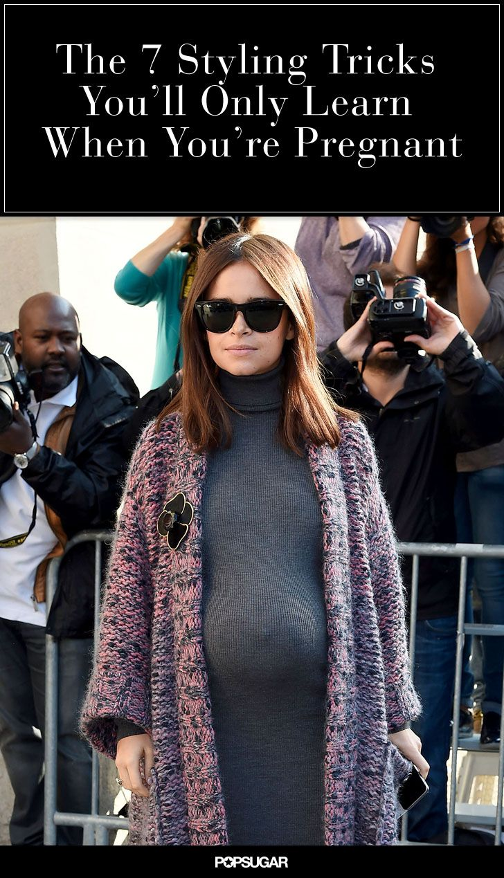 Smart styling tips to try even if you aren't rocking a bump!