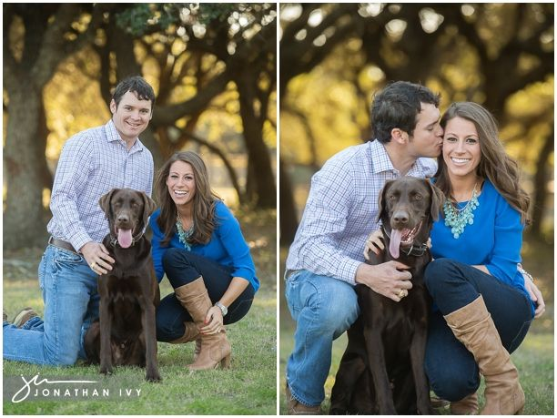Engagement Photos with your lab by Jonathan Ivy Photo