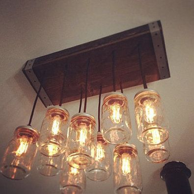 24 Best Images About Lighting Mason Jar Chandelier