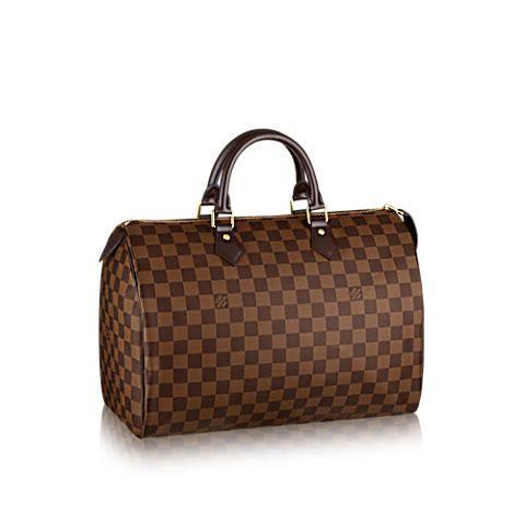 Speedy 35 Damier Ebene Canvas Damen Handtaschen | LOUIS VUITTON