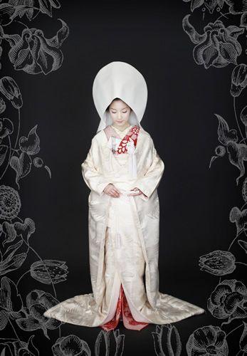 kimono 着物 打掛 婚礼衣装 角隠し