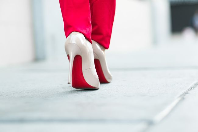 Lady in Red :: One shoulder jumpsuit & Rose clutch