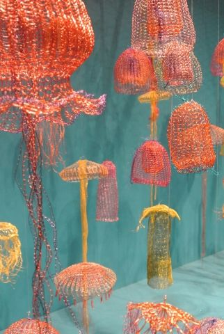 Fisch's Crochet Jellyfish Do Swimmingly on Display | crochet today
