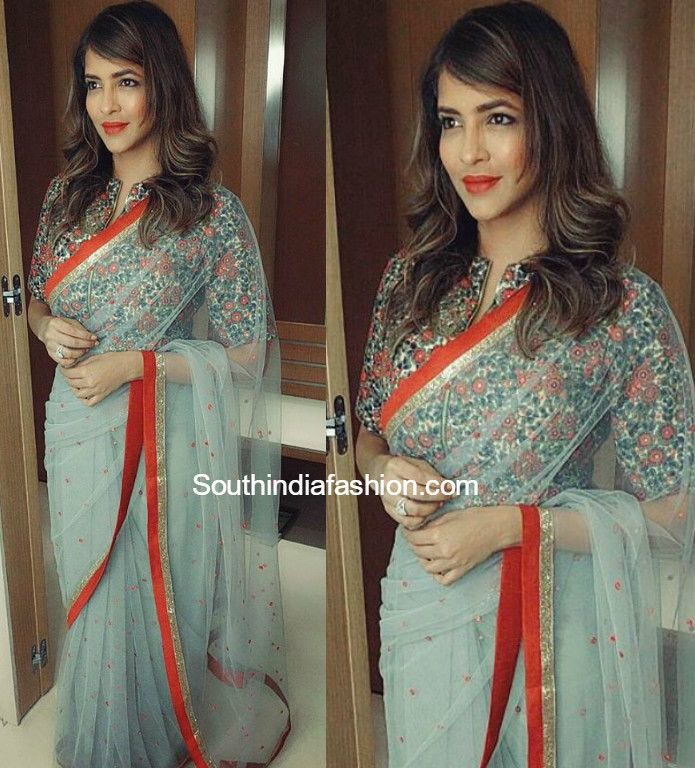 Lakshmi Manchu in Priti Sahni photo                                                                                                                                                                                 More
