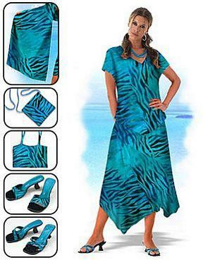 On The Loose Tropical Two Piece Dress At Tantrum