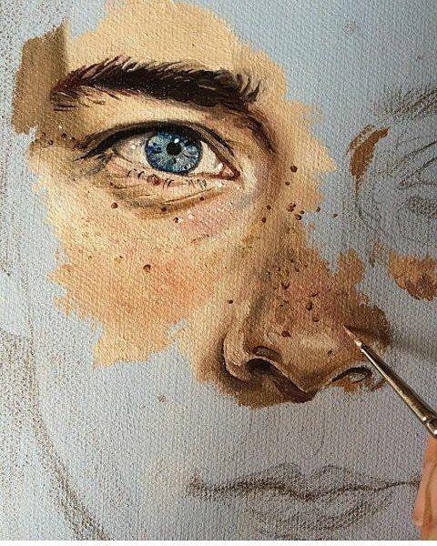 "5,611 Me gusta, 18 comentarios - ArteVM (@artevm) en Instagram: ""Wow! At by @septemberwildflowers #face in progress #detail #art #arts #arte #desing #desings…"""