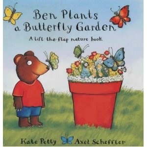 Ben Plants a Butterfly Garden by Kate Petty is a great book for exploring life cycles of butterflies & plants. The text is easy to follow & the lift-the-flap illustrations provide lots of fun. This looks like a perfect book for my garden loving girl!