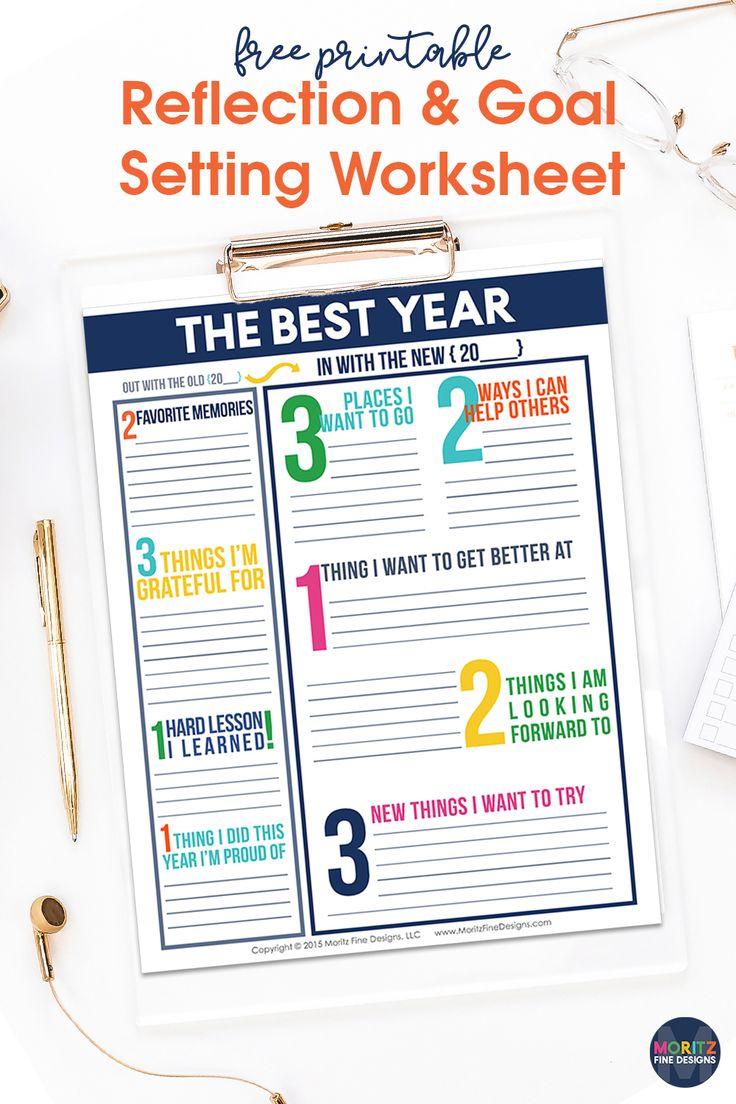 Goal Setting Worksheets for Kids & Adults Free Printable