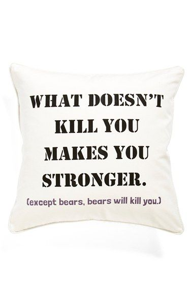 Levtex 'What Doesn't Kill You' Pillow available at #Nordstrom