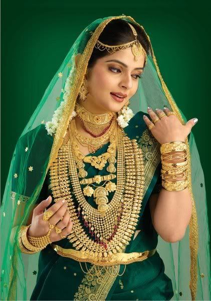 Indian Bride. Wow! Look at all that gold!
