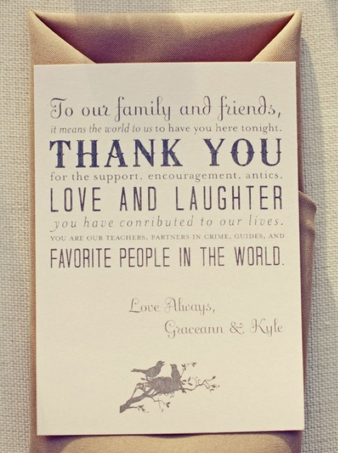 Thank You Note For Wedding Gift Check : Wedding Thank You Thank You Ideas Pinterest Receptions, Wedding ...