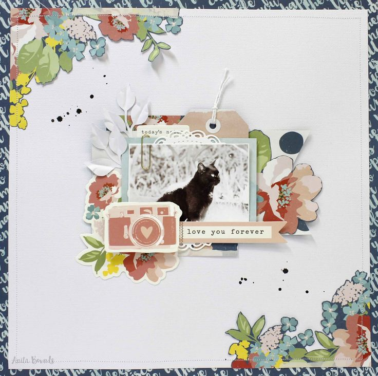 Love you forever layout By Anita Bownds. Kaisercraft Finders Keepers