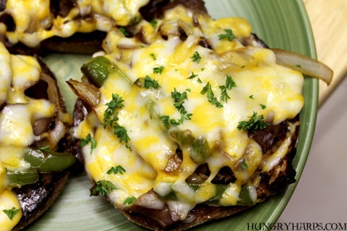 Philly Cheesesteak Mini-Pizzas (with English Muffins)