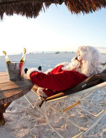 Santa descansando.