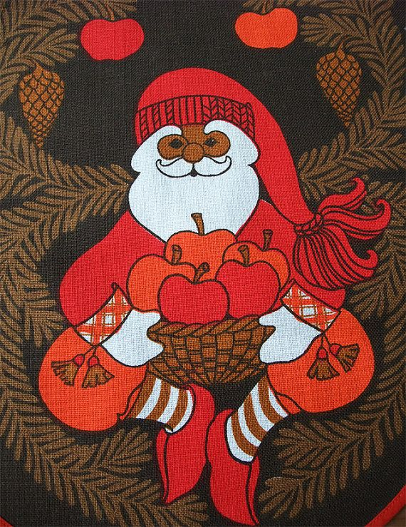 Vintage Swedish Christmas Table runner