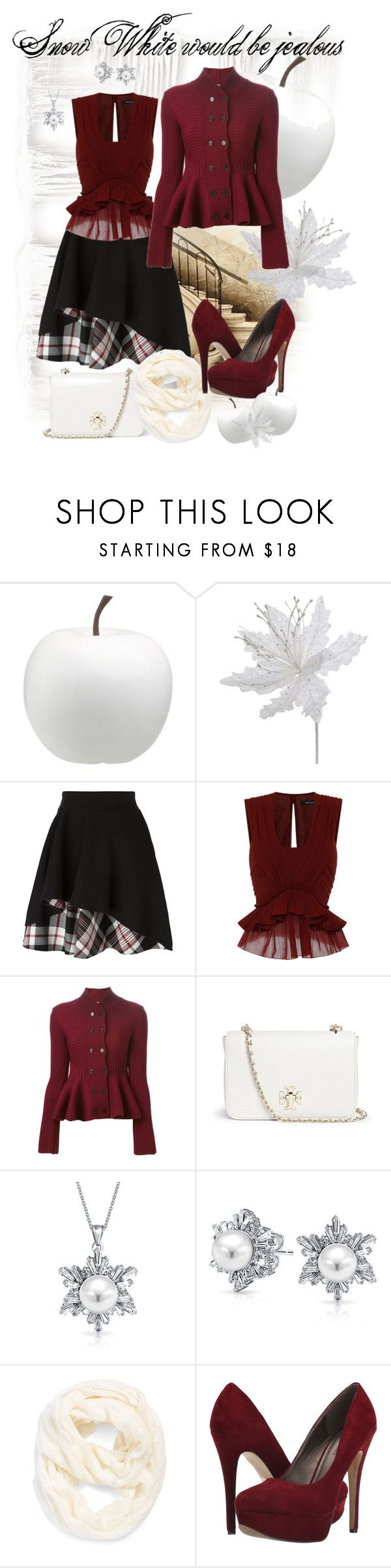 """""""Snow White would be jealous"""" by julyralewis ❤ liked on Polyvore featuring CB2, Alexander McQueen, Isabel Marant, Tory Burch, Bling Jewelry, Echo, Michael Antonio, women's clothing, women's fashion and women"""