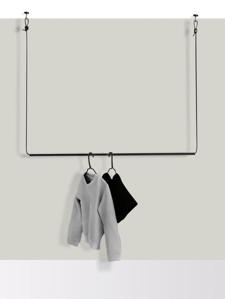 Flexible Hanging Wardrobe Clothes Rack In Metal