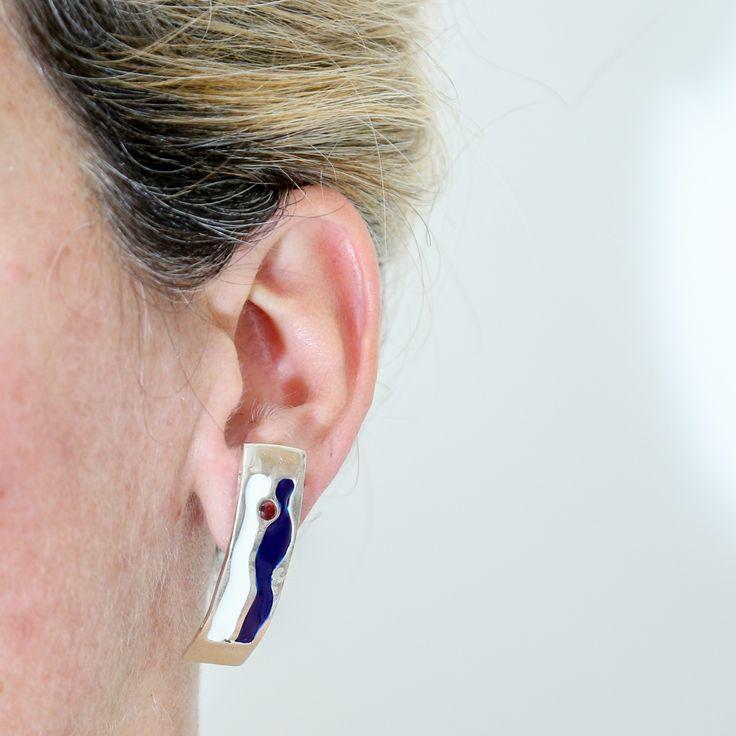 Blue Zone earring