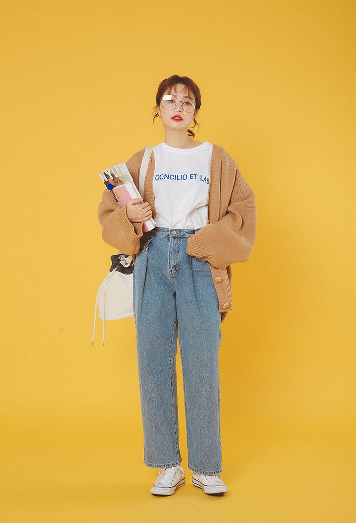 丸ボタンルーズニットカーディガン | レディース・ガールズファッション通販サイト - STYLENANDA