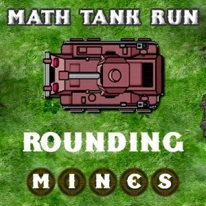 Math Tank Run - Rounding is a math based defense game where you need to save your tank from deadly mines. Click or tap the tank to speed it up or slow it down. Click or tap to the right or left of the tank to shift it right or left. Use the hint before each mine field to figure out which mine is a dud. Don't allow the tank to touch active mines. Collect Gold coins to earn more bonus points.