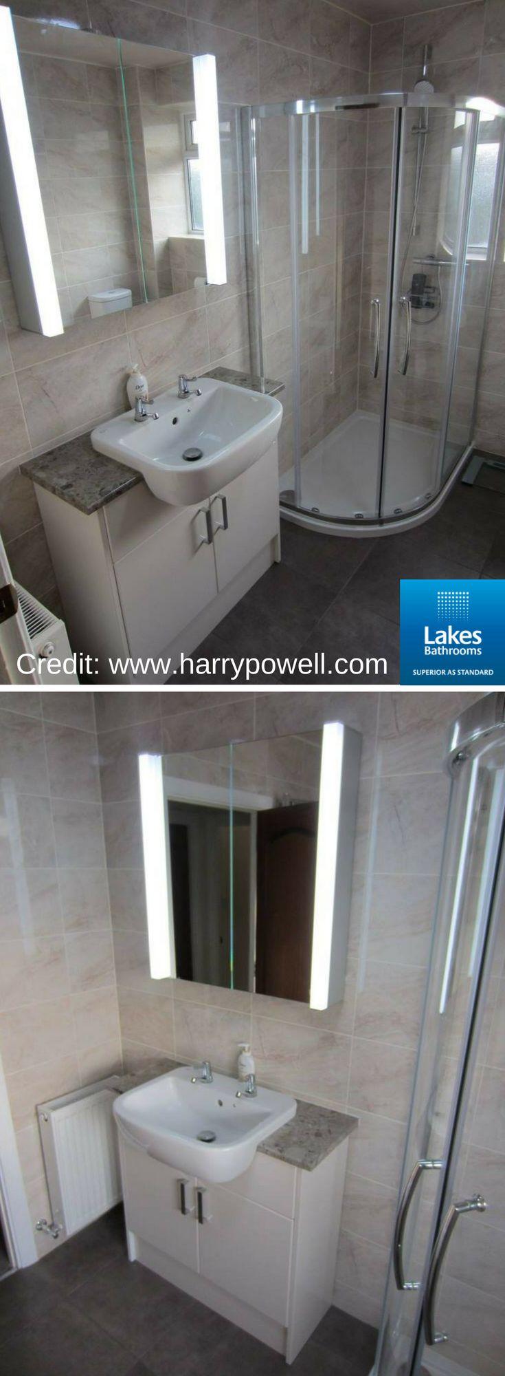 Great #bathroomremodel by Harry Powell (http://www.harrypowell.com/) featuring our Double Door Offset Quadrant. #RealLakesBathroooms #BathroomDesign #BathroomIdeas
