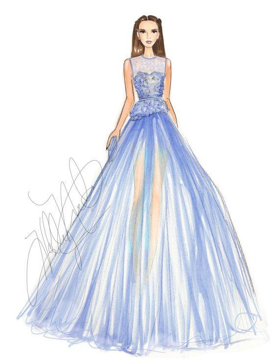 Elie Saab Couture Fashion Illustration Print