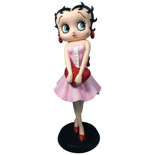 Betty Boop Holding Red Glitter Heart. Licensed Collectable