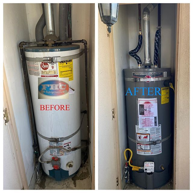 Todays 50 Gallon Water Heater Swap Out Before And After Images Rheem Waterheater 50gallon Hvac Hvaclife Hvact In 2020 Hvac Tech Electrical Problems Water Heater