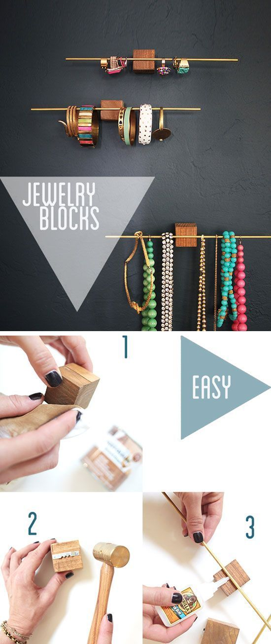 Cool-- turns your jewelry into wall art! Easy $10 Jewelry Display Organizers | 23 Life Hacks Every Girl Should Know | Easy Organization Ideas for Bedrooms