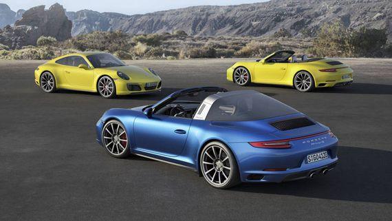 Porsche Carrera 4, Targa 4 и Carrera 4 Cabriolet 2017 (Порше Каррера 4, Тарга 4 и Каррера 4 кабриолет)