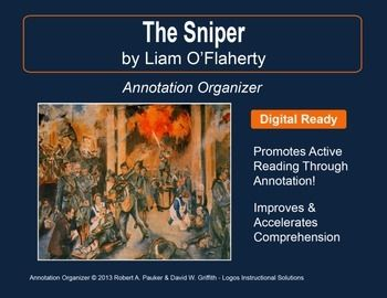 the sniper by liam o flaherty The sniper by liam o'flaherty: focus on theme, irony, plot this is a lesson on the short story the sniper by liam o'flaherty included: reading guide with focus on comprehension and theme reading guide with focus on plot and irony constructed response prompt and form with grading rubric ccss alignment usage guide digital usage guide for.