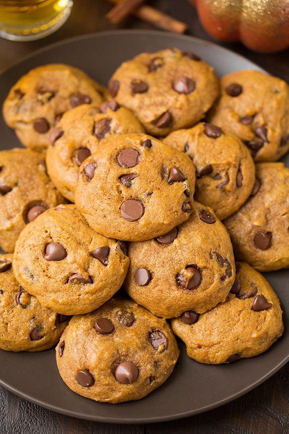 Pumpkin Chocolate Chip Cookies | Cooking Classy