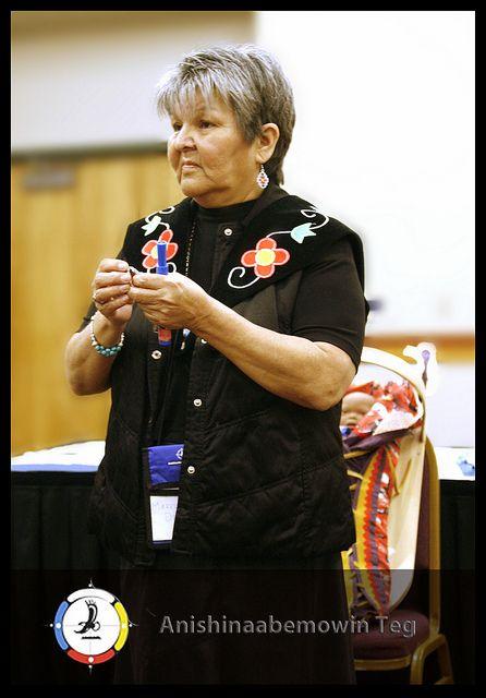 "Marilyn Debassige Presenting ""How We Prepare a Sacred Bundle for Our Ancestors:  ""An Oral History of Ojibwe Baby Moss Bag Teachings."""