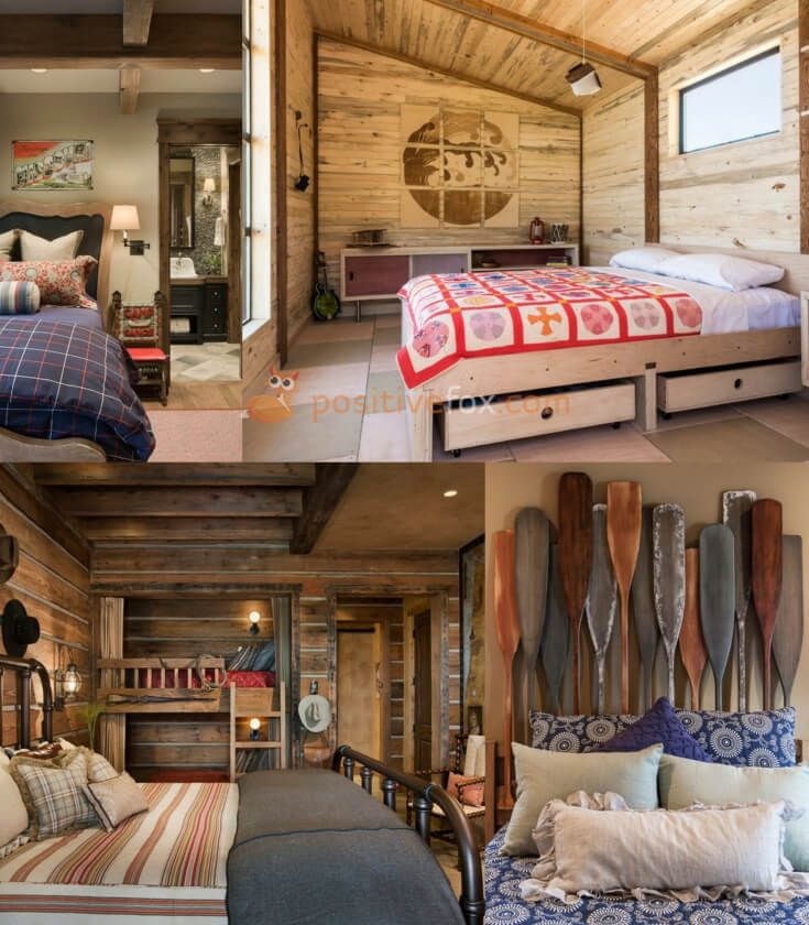 Country Bedroom | Country style design is above all environmentally friendly. The presence of natural materials in the construction and decoration is essential. Rough stone, wood, and other natural materials should be in abundance in a country style bedroom | Explore more Country Bedroom Ideas on https://positivefox.com