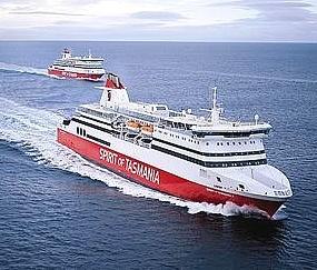 Spirit of Tasmania passenger ferry from Melbourne (in Victoria) to Devonport