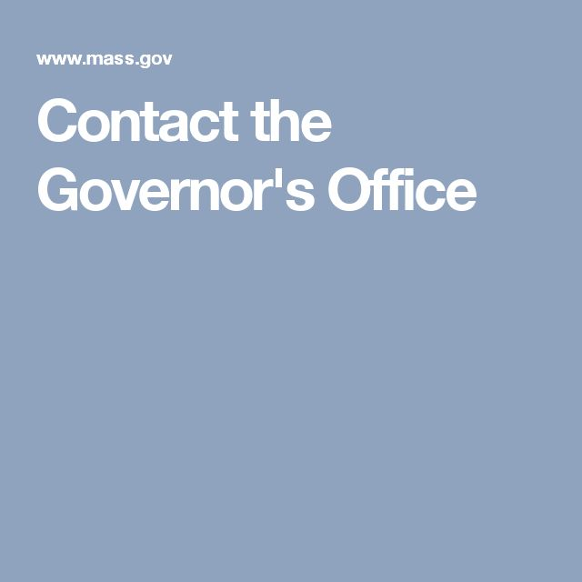 Contact the Governor's Office