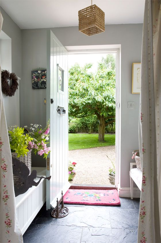 Lovely hallway and great outlook | The best cottage home design ideas! See more inspiring images on our boards at: http://www.pinterest.com/homedsgnideas/cottage-home-design-ideas/