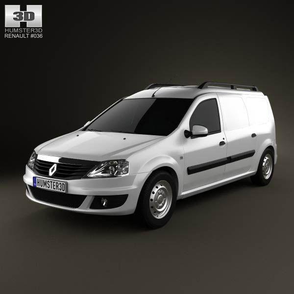 Renault Logan Van 2011 3d model from humster3d.com. Price: $75