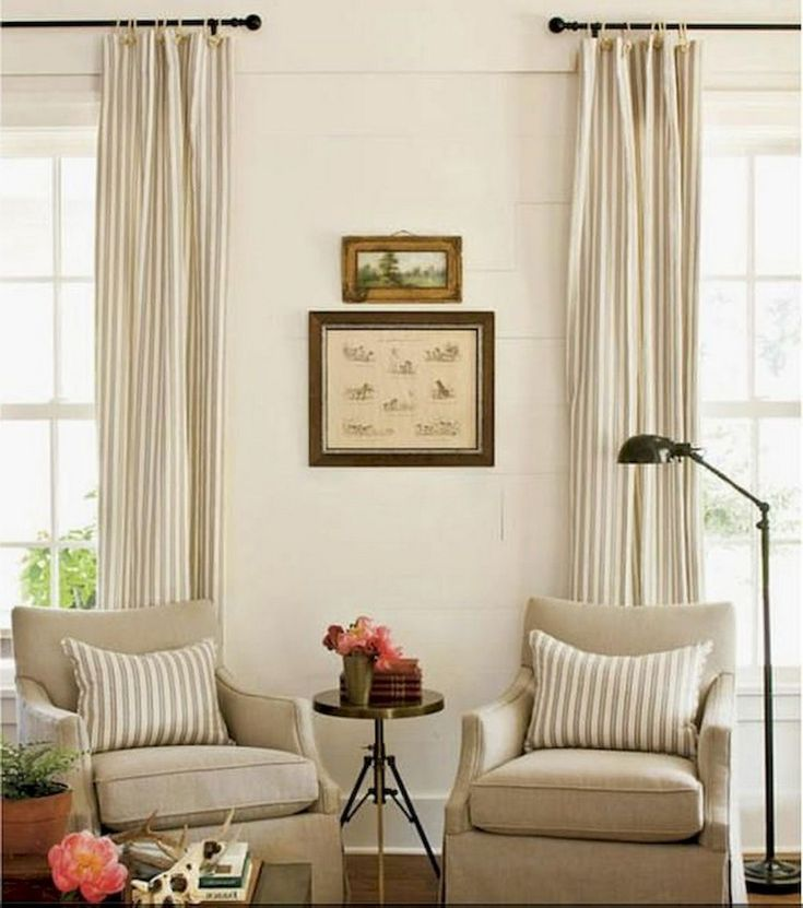 90+ Awesome Modern Farmhouse Curtains for Living Room ... on Farmhouse Curtain Ideas For Living Room  id=86409