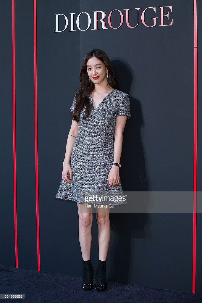South Korean actress Jung Ryeo-Won (Chung Reo-Won, Chung Ryo-Won) attends the photocall for Dior 'ROUGE DIOR' Pop Up Store Launch on August 19, 2016 in Seoul, South Korea.