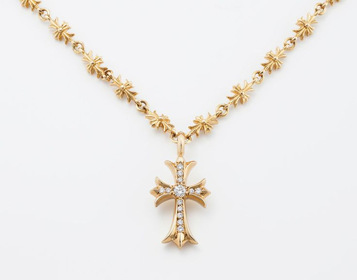 Chrome Hearts cross necklace.
