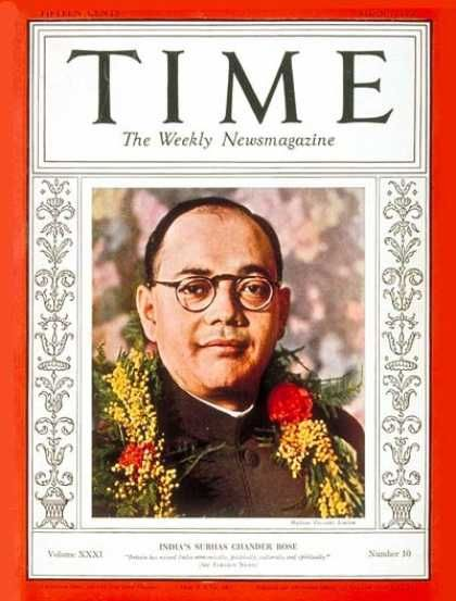 Subhas C. Bose - Mar. 7, 1938 - India